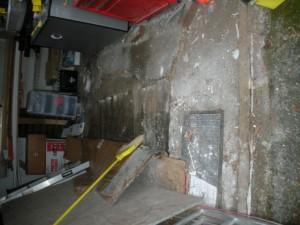 damaged garage interior