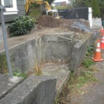 retaining wall is about to fall
