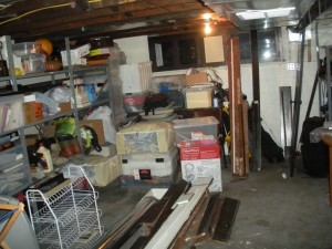 The basement was well-used.