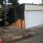 the neighbors' garage